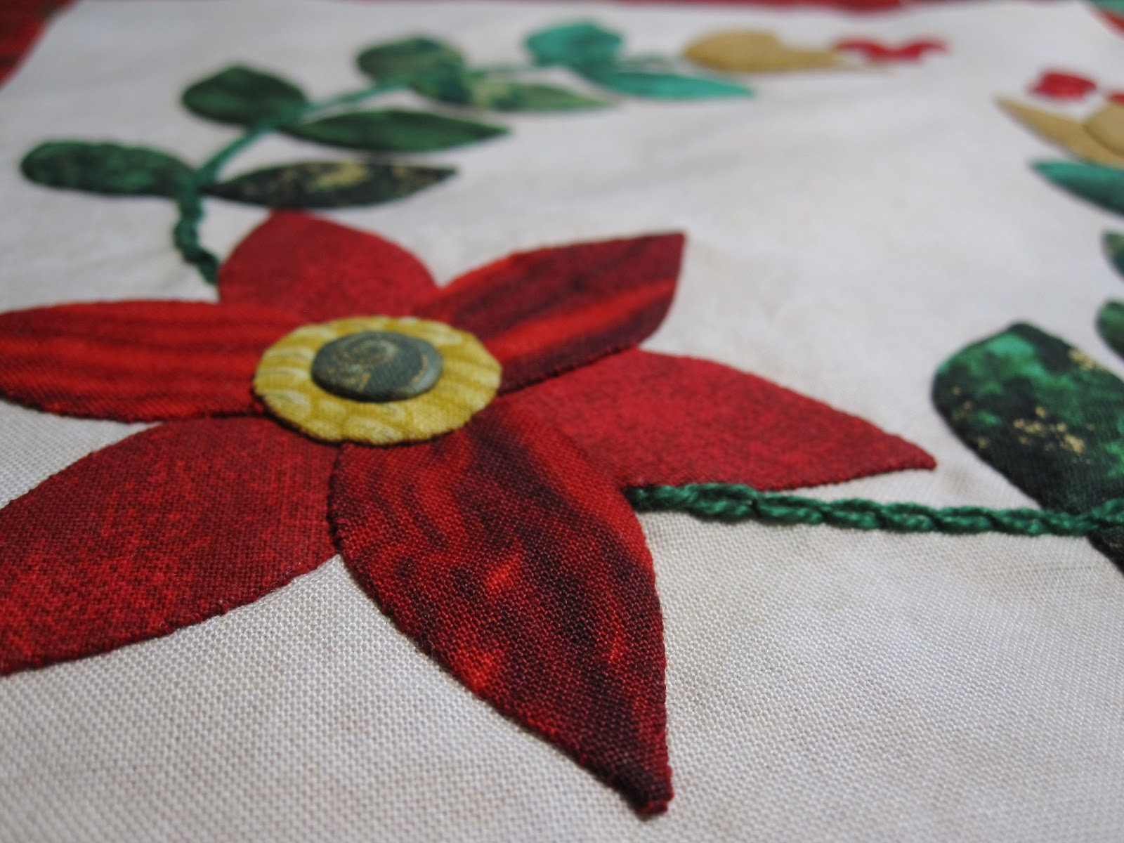 Cheeky cognoscenti applique by machine and by hand the verdict