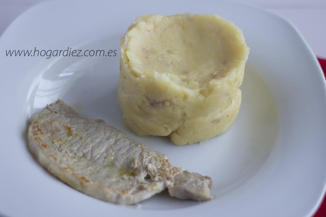 Puré de patatas con cebolla y manzana