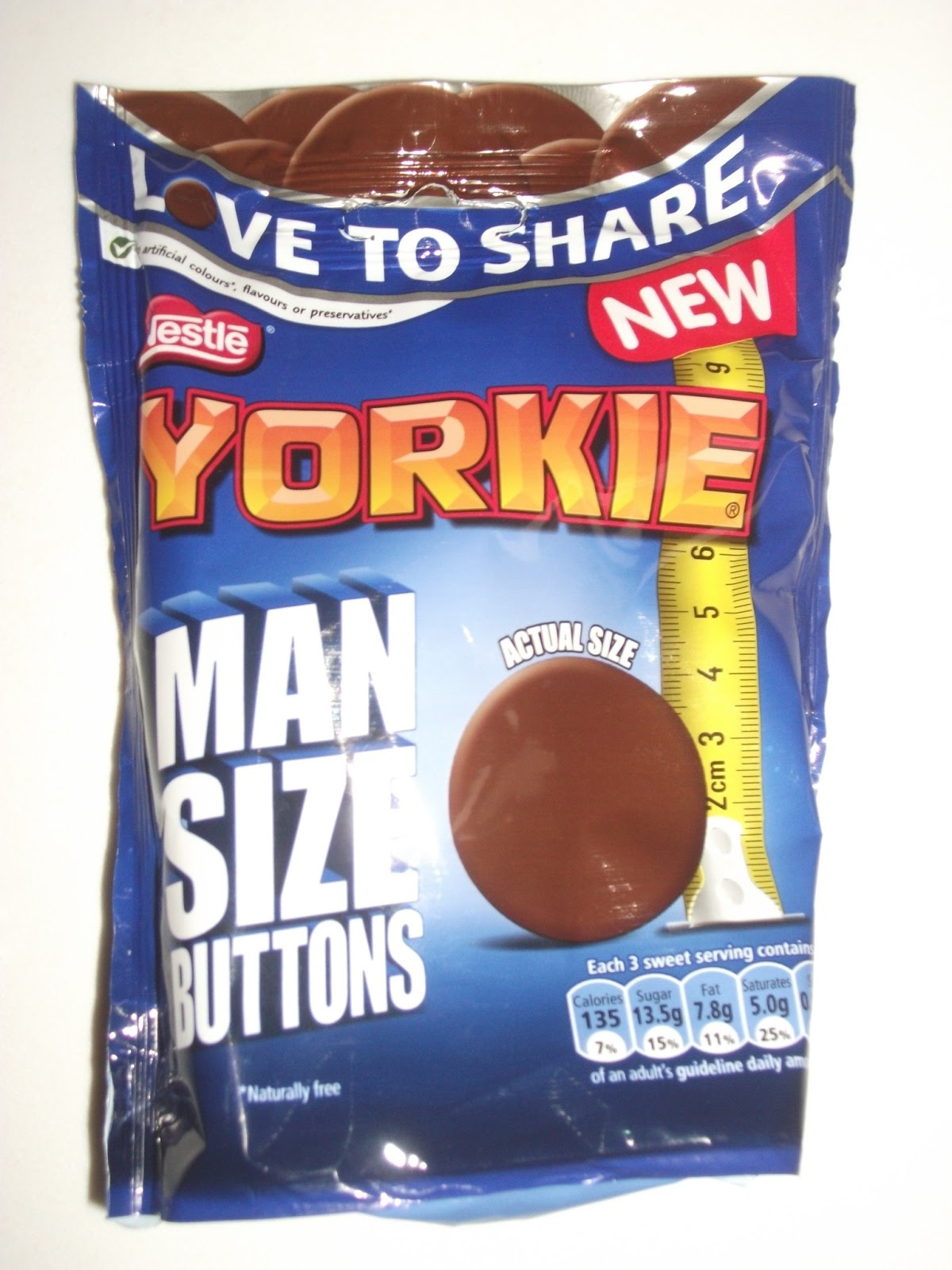 Yorkie Man Size Buttons