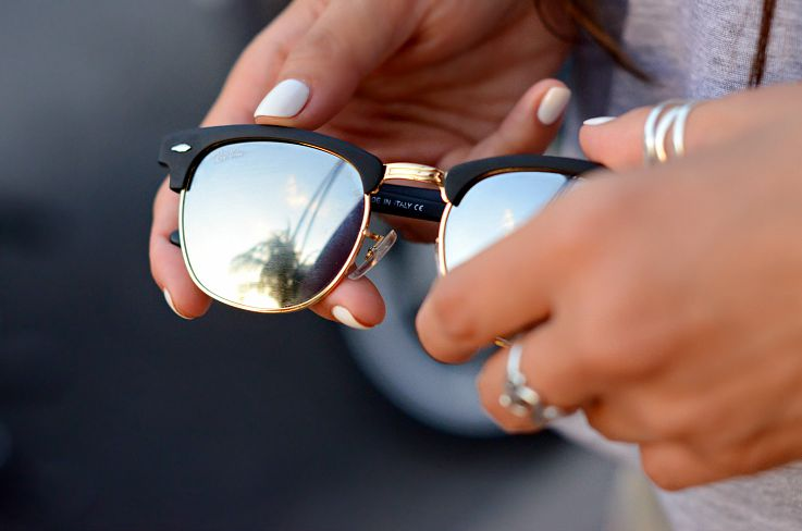 Rayban Clubmaster, Mirrored sunglasses