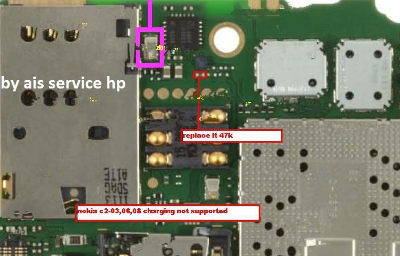 pada Nokia c2-03 charger not support dan di bawah inilah gambarnya