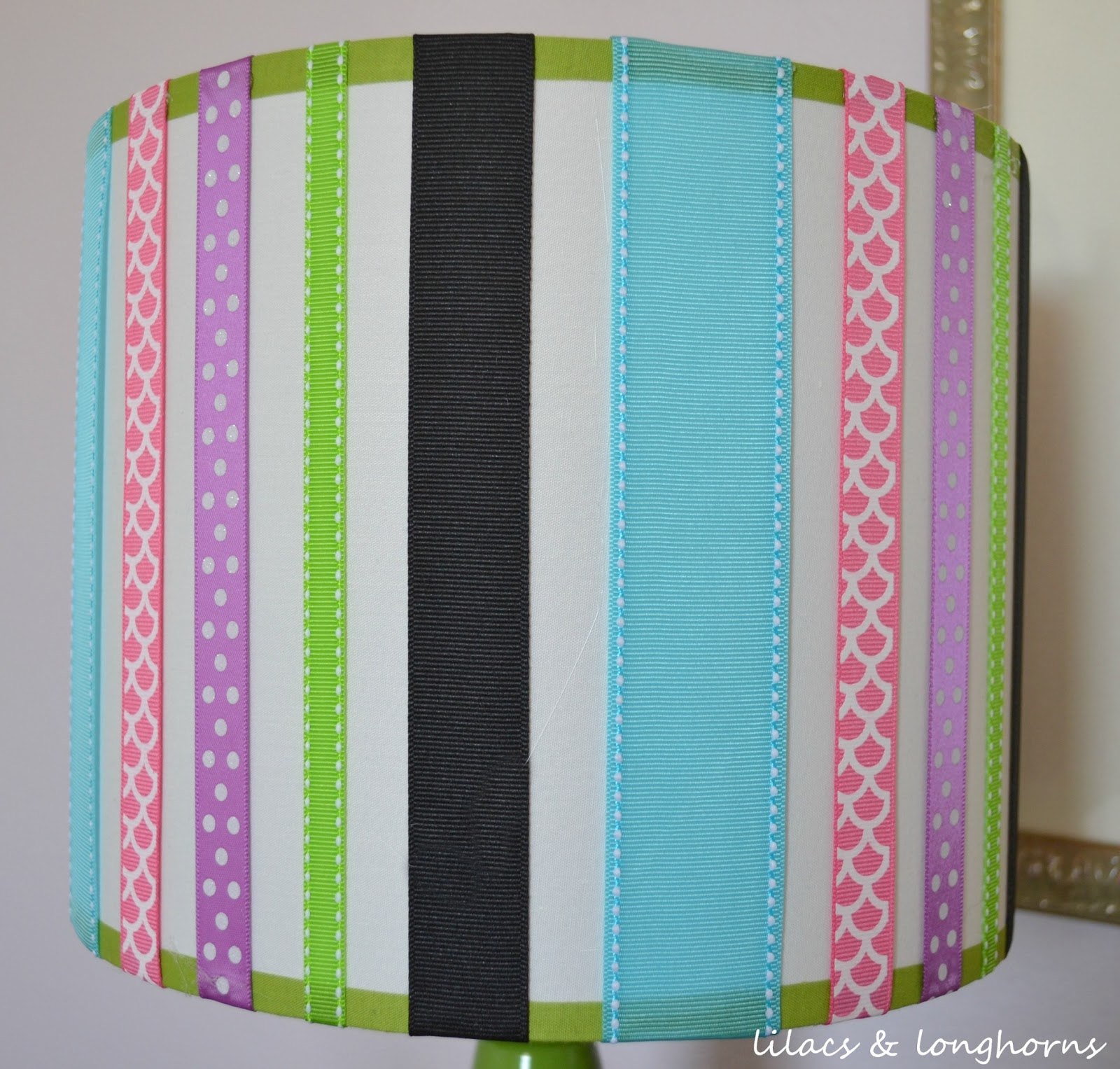 Diy ribbon lamp shade lilacs and longhornslilacs and longhorns aloadofball Choice Image