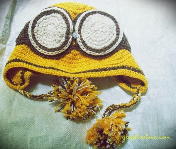 topi bayi crochet earflap aviator