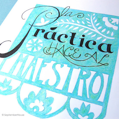 Hand Lettering Spanish SeptemberHouse