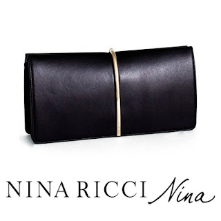 Queen Letizia Nina Ricci Arc Clutch in Black