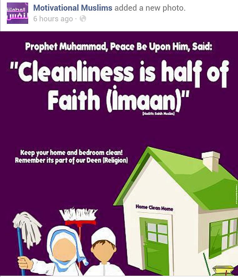 Kebersihan Sebahagian Daripada Iman Dari Facebook