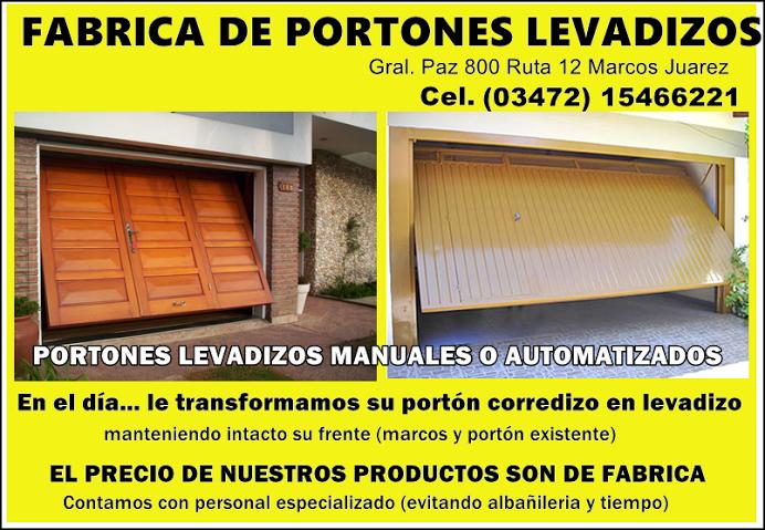 ESPACIO PUBLICITARIO: FABRICA DE PORTONES LEVADIZOS
