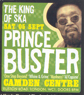Madness band name origins - Prince Buster