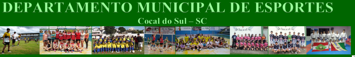 DEPARTAMENTO MUNICIPAL DE ESPORTES DE COCAL DO SUL