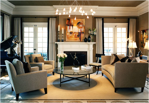 Captivating Transitional Living Room Design Ideas