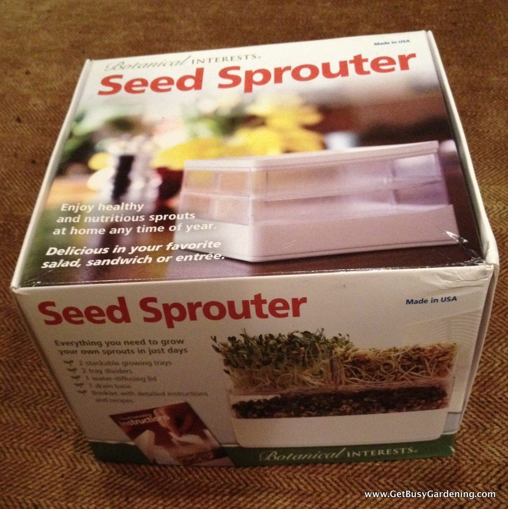 A seed sprouter is used to grow sprouts