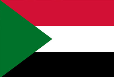 Sudan Flag - Official country flag of Sudan.