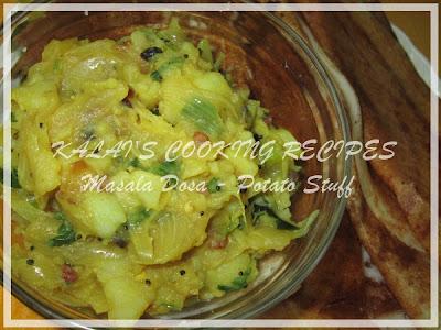 Masala Dosa / Dosai / Thosai - Potato Stuff