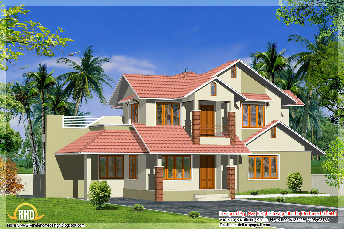 3 different indian house elevations kerala home design for Elevation of kerala homes