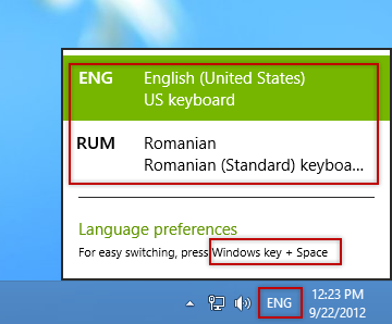 How to Change Keyword Input Languages via Taskbar