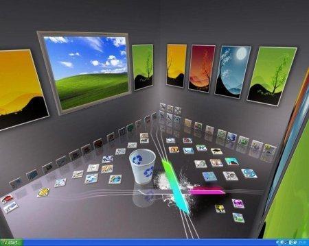 RealDesktop تحويل سطح المكتب إلى ثلاثي الأبعاد