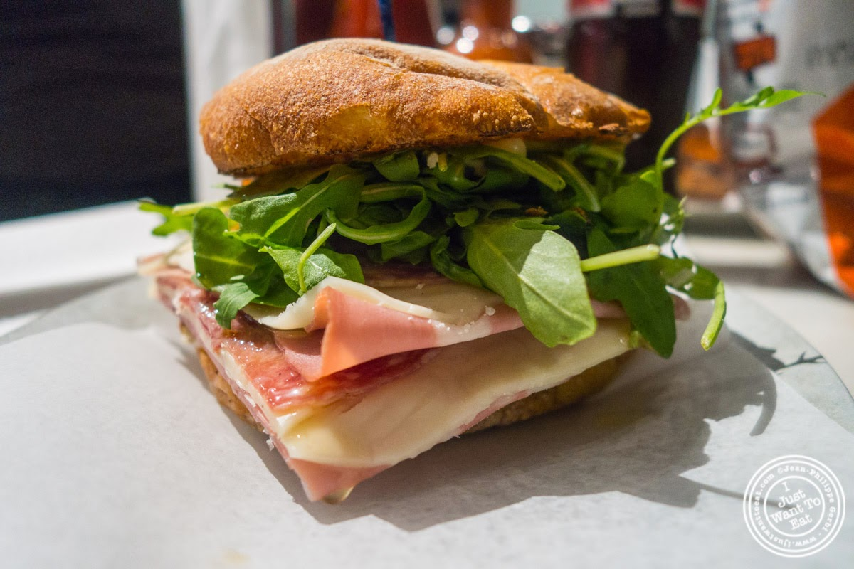 image of Italian combo sandwich at Court Street Grocers at The Gotham West Market