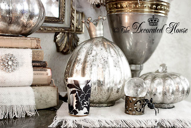 The Decorated House - Halloween Elegant Decorating with Black White and Silver