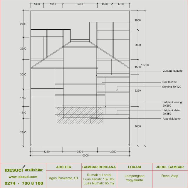 rencana atap rumah minimalis
