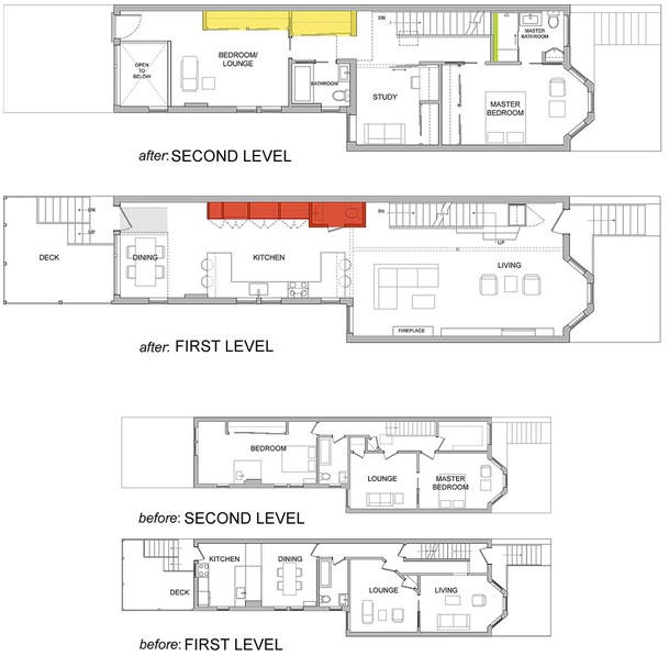 This Is Small Row Home Renovation Plan By Kube Architects Read