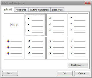 cara menyisipkan numbering  cara membuat bullet and numbering di word 2007  cara membuat numbering di word