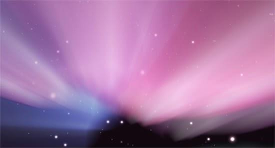 Aurora Borealis wallpaper in GIMP