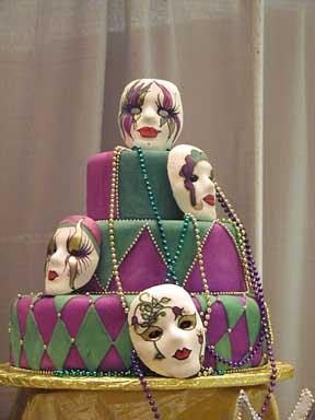 Wedding Cake Designs: Mardi Gras Wedding Cake Designs