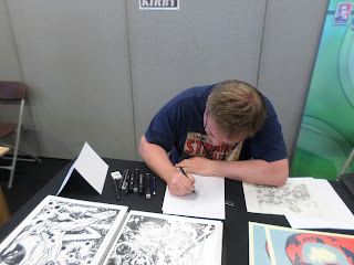 Russell Payne sketching at LFCC2015