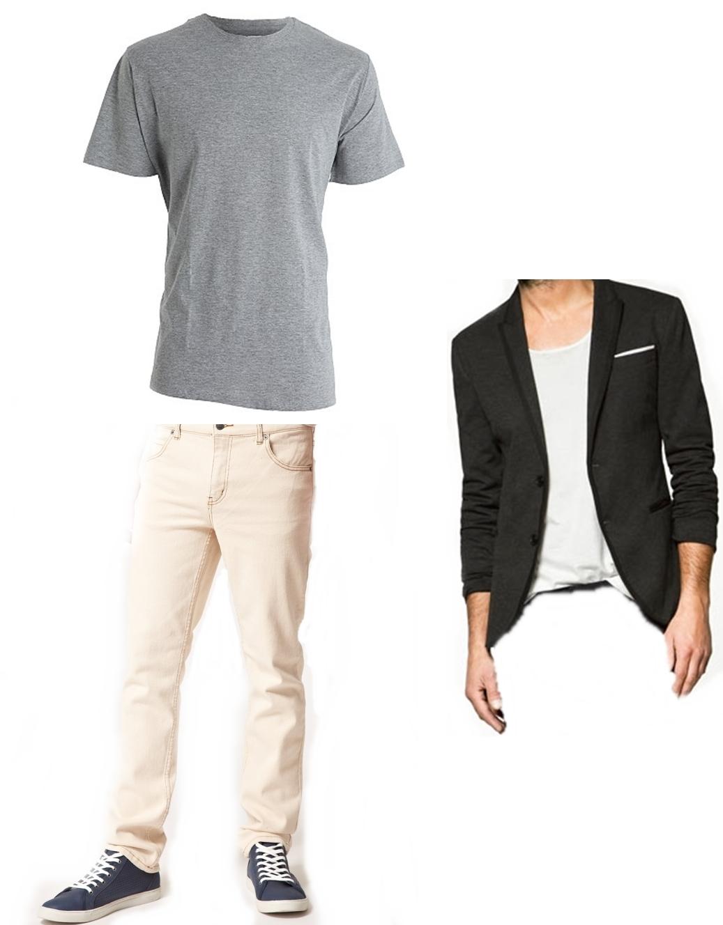como combinar pantalones blancos para hombre