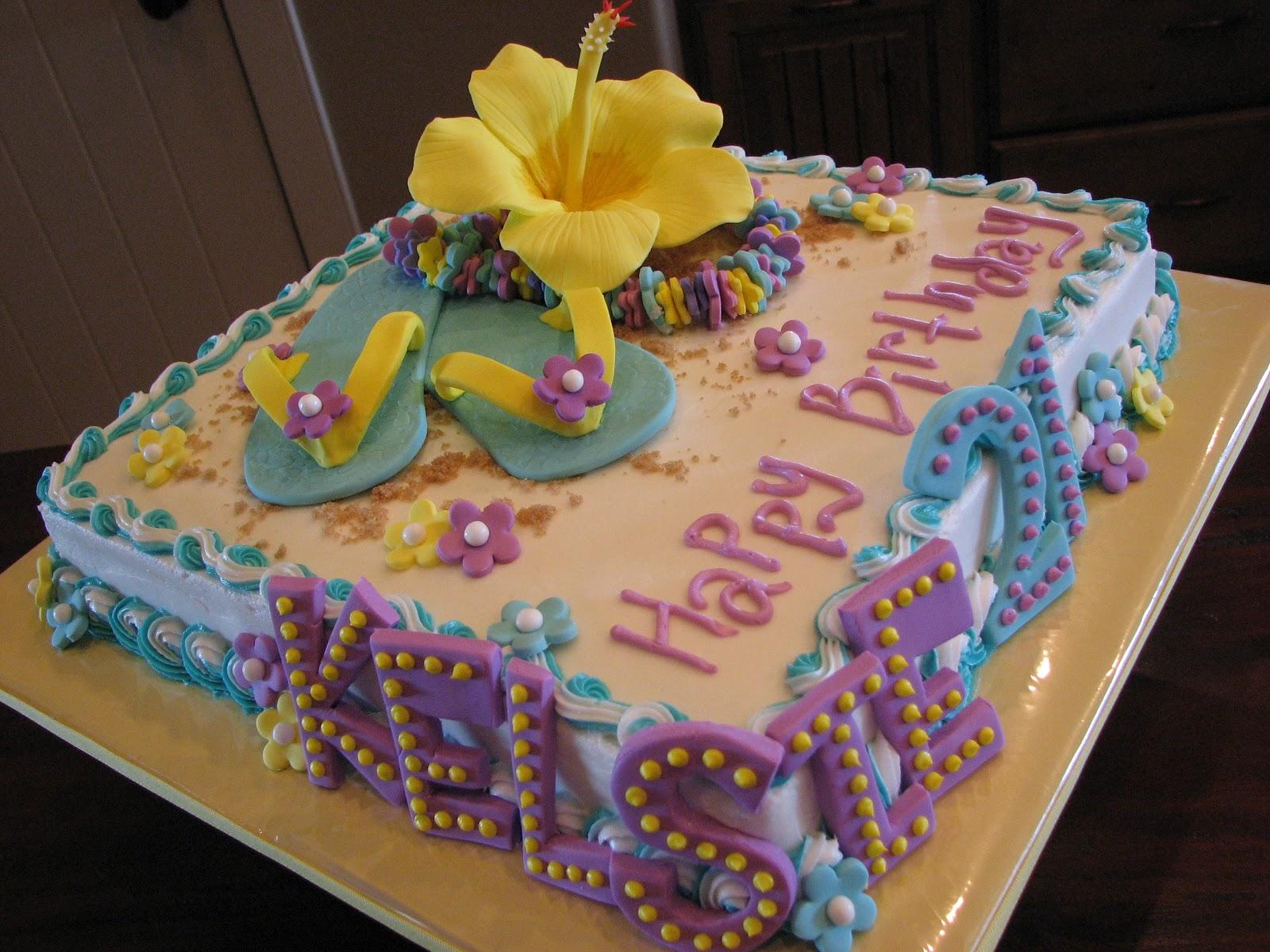 Decadent Designs: Hawaiian Birthday Cake