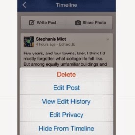Facebook for iOS lets you edit your posts and comments. This feature has recently been added to the web version of Facebook is now also accessible from an iPhone or iPad. In addition, you can add a photo comment and quickly change the privacy settings of a publication.