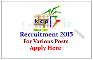 KCP Vietnam Industries Limited Recruitment 2015 for the various posts