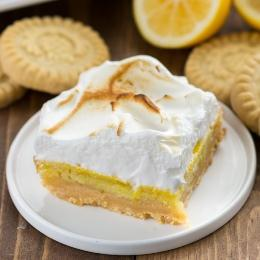 Walkers Lemon Meringue Pie Bars with Shortbread Crust