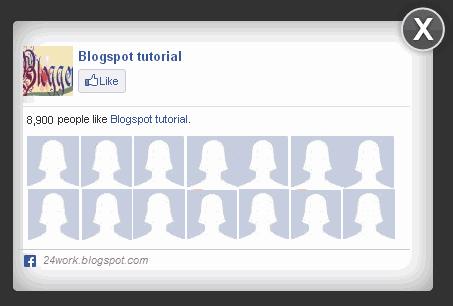 Facebook Popup Widget with Lightbox Effect