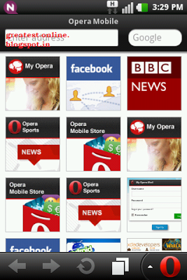 Opera Mobile/Mini Web Browser