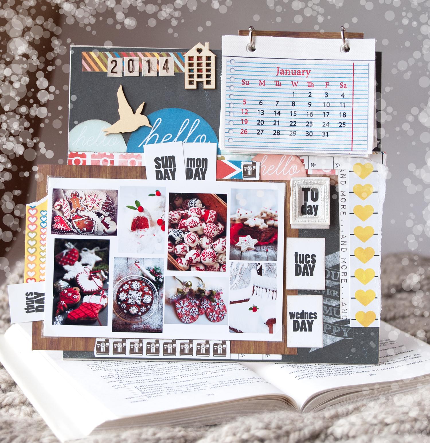 календарь+рамка+фото+скрапбукинг+glitz