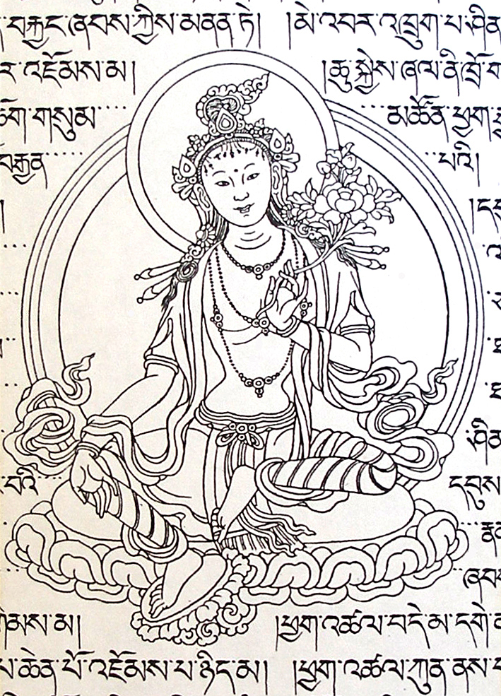 Drawing The Line Tattoos Tara Mccabe : Sarasvati modern tibetan deities gods and goddesses