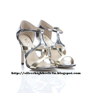 Michael Kors silver high heels