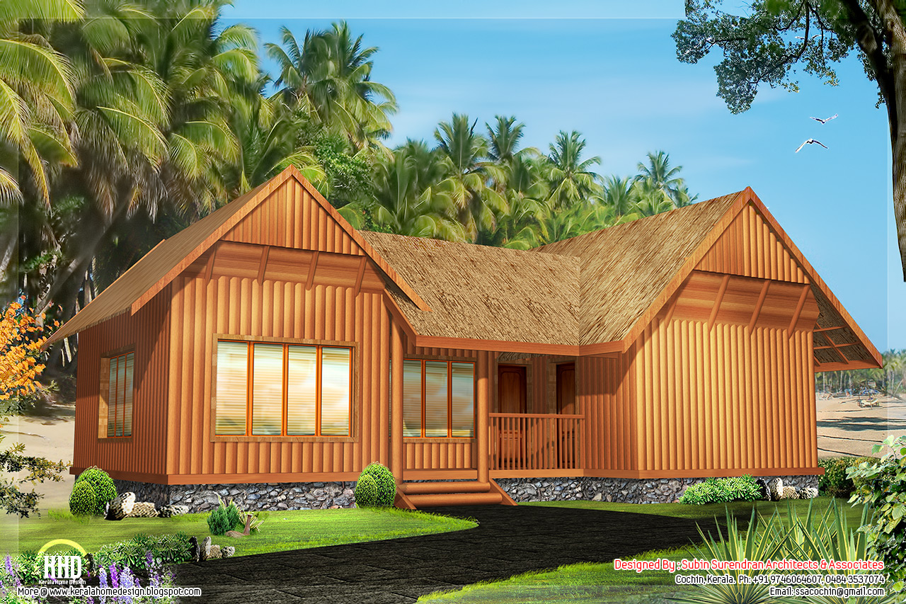 2 single floor cottage home designs kerala home dezign for Kerala home plan single floor