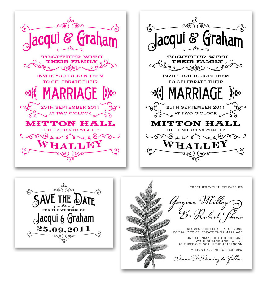 letterpress wedding invites