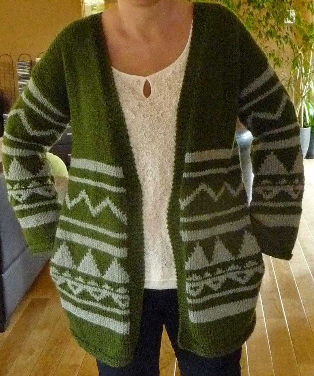 sweter wzory azteckie