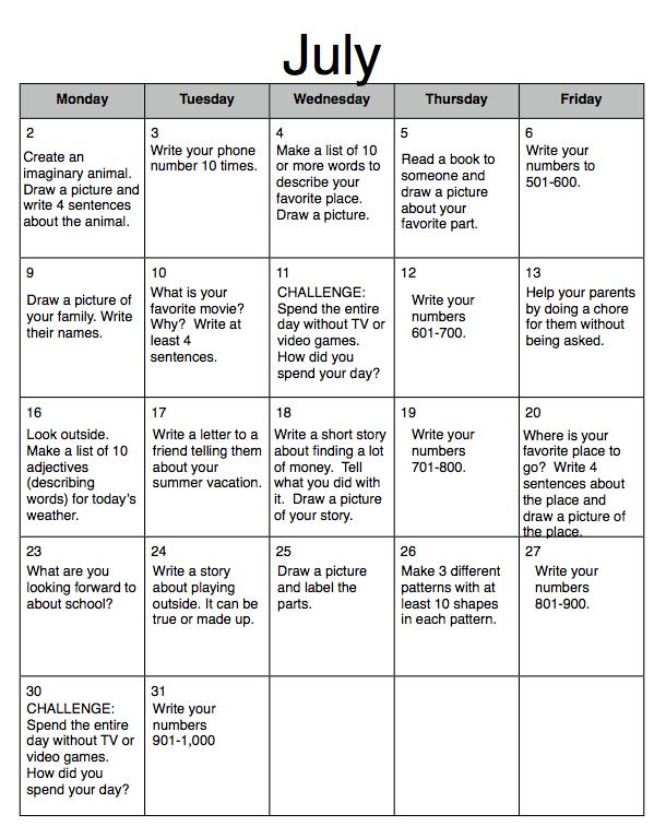 ... Development Principles At Home: Kindergarten Homework Critique #2
