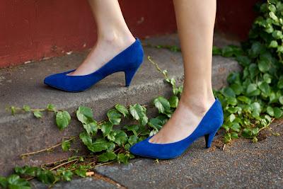 Dale+Steliga+blue+suede+heels
