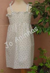 Vestido Praia Branco C/ Flores Azuis