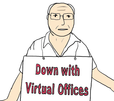 Virtual office services provide fully furnished office space.  They offer telephone service.  They give you internet service.  They pay for your gas and electric. They pay for everything!  How can traditional building owners compete?!