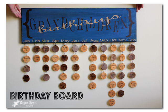 diy cómo hacer un calendario de cumpleaños