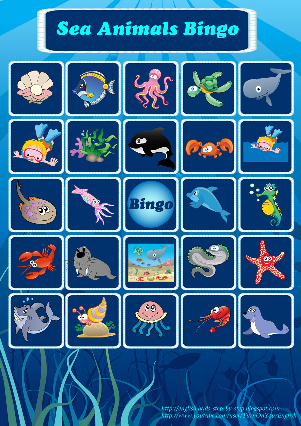 Number bingo! – a fun way to practise learning numbers