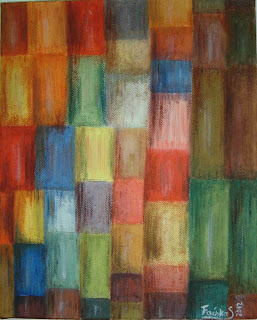 Quadro pintado a óleo por Mariajoao nas aulas da Provectus.