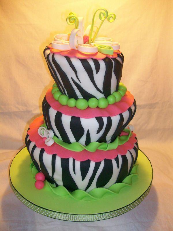 Zebra Birthday Cake | Zebra Cakes 2011 | Birthday Cake ...