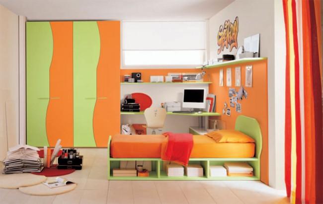 Cameretta Arancione E Gialla : Camerette arancioni. cameretta arancione e gialla. camerette